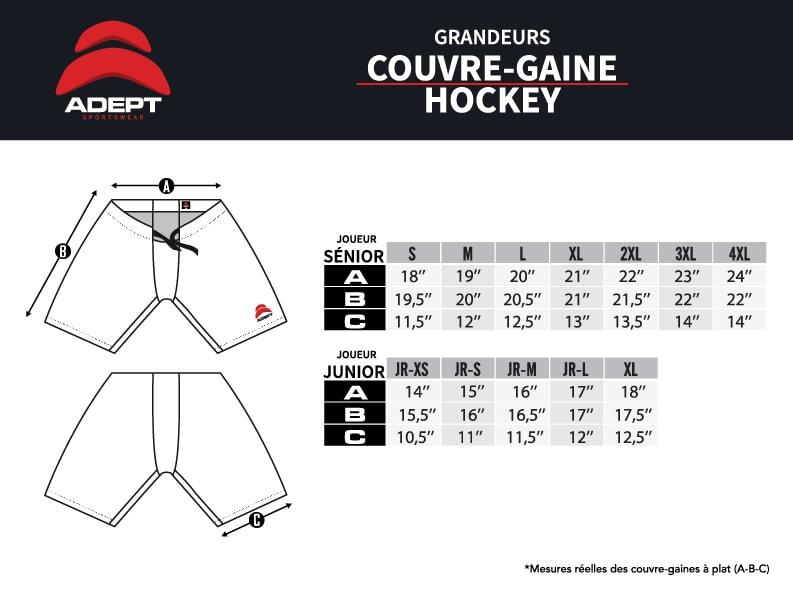Charte de grandeur Hockey Shorts